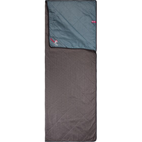 Grüezi-Bag WellhealthBlanket Wool Home Set with Cotton Bag chocolate/smoy blue